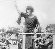 The shrill-voiced Constance Markievicz, c. 1922.