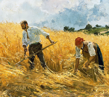 Friedrich Kallmorgen, The Harvest (detail)