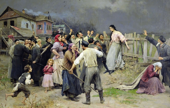 Mykola Pymonenko, Victim of fanaticism, 1899