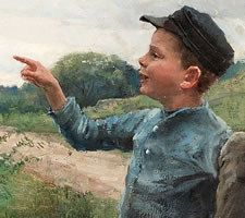 Fanny Brate, Teasing Children, 1885 (detail)