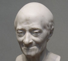 Bust of Voltaire at 83 (1778), by Jean-Antoine Houdon at the National Gallery in Washington, DC.