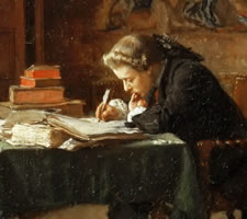 Jean Louis Ernest Meissonier, Young Man Writing, 1852