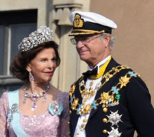 King Carl XVI Gustaf of Sweden showing the art of understatement in wearing sustainable bling.