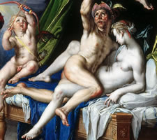 Joachim Wtewael, Mars and Venus Surprised by Vulcan (1601)