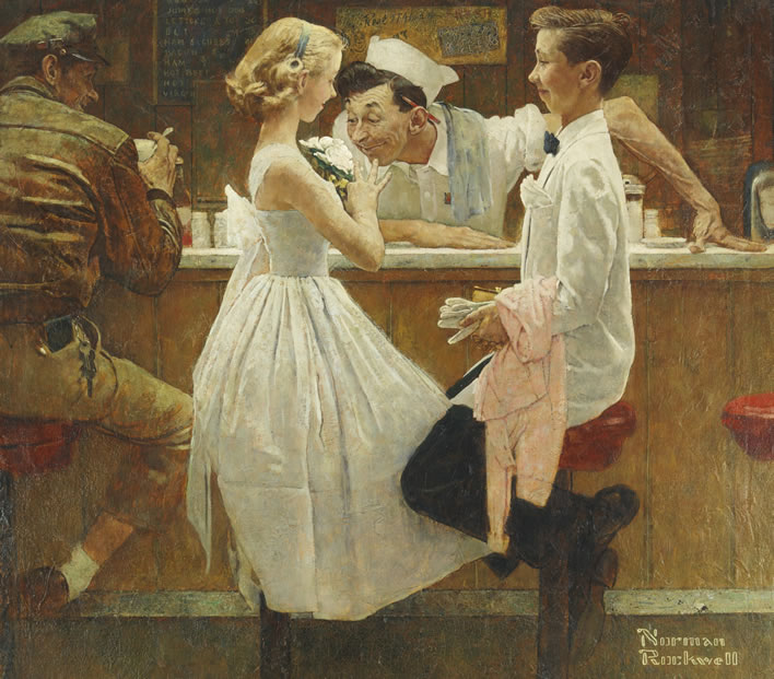 Norman Rockwell, After the Prom, 1957