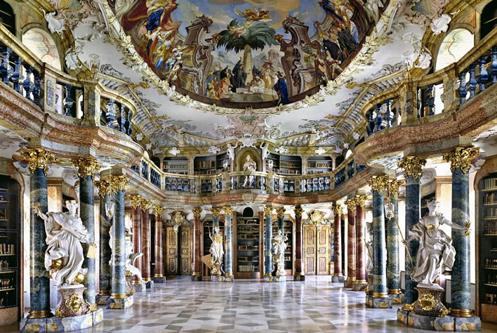 The library, Wiblingen Abbey