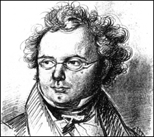 Franz Schubert, Pencil sketch by Friedrich Lieder, 1827