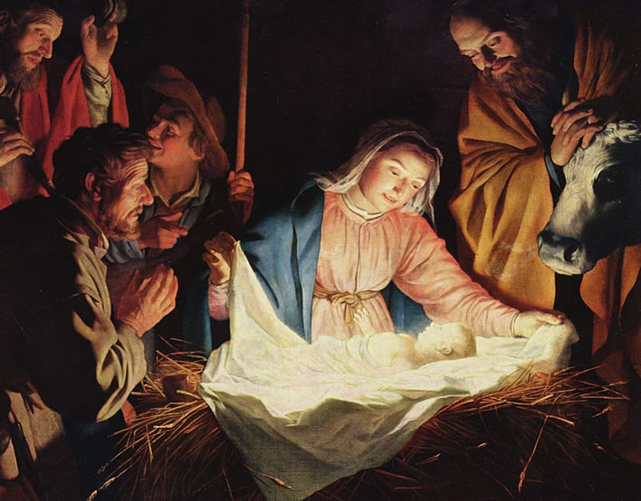 Gerard van Honthorst, The Adoration of the Shepherds, 1622, Wallraf-Richartz-Museum