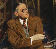 James Joyce, by Jacques-Emile Blanche, 1935, National Portrait Gallery, London