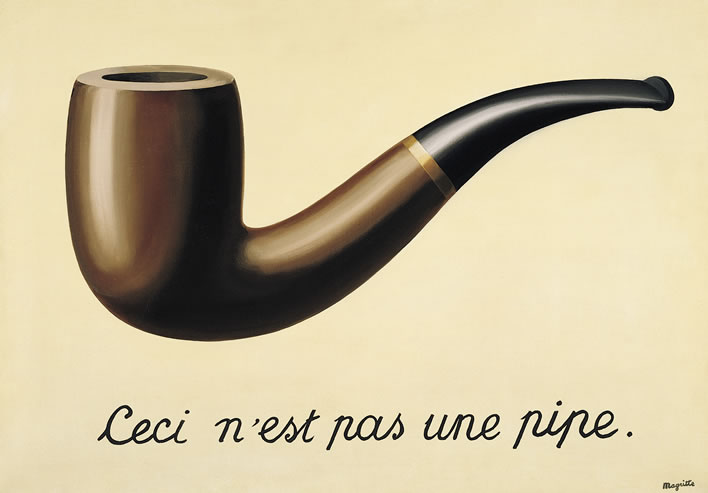 Rene Magritte, The Treachery of Images (This is Not a Pipe) (1929)