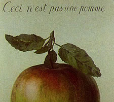 Rene Magritte, This is not an apple
