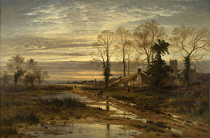 Benjamin Williams Leader, 'February Fill Dyke', (1881)