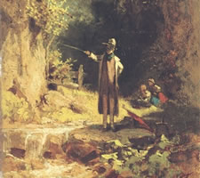 Carl Spitzweg, Der Angler (one of many versions)