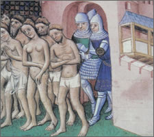 The expulsion of the inhabitants of Carcassonne in 1209.