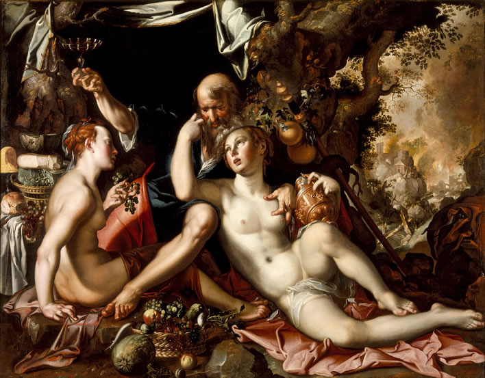 Joachim Wtewael, Lot and his Daughters, c. 1600