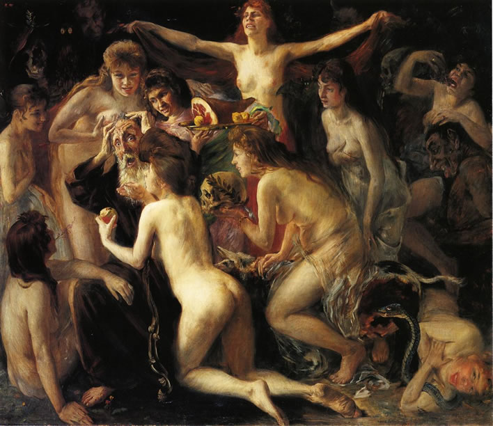 Lovis Corinth, The Temptation of Saint Anthony, 1897