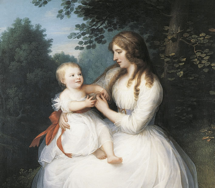 Friederike Brun with her daughter Charlotte, 1789