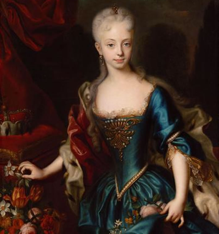 Empress Maria Theresia (1717-1780), eleven years old
