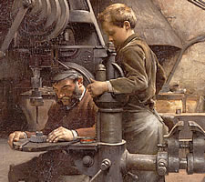 Jean-Eugène Buland (1852-1926), Un Patron, 'Teaching The Apprentice', (1888). Image: Nationalmuseum Stockholm