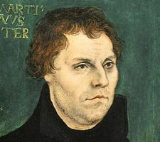 Martin Luther (1483-1546) by Lucas Cranach the Elder (1472–1553), 1526. Image: Corpus Cranach