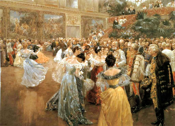 Wilhelm Gause (1853-1916), Hofball in Wien, 'Court Ball at the Hofburg in Vienna' (1900).