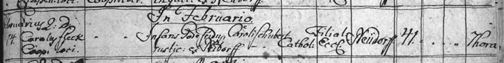 Death register entry Gottfried Schubert