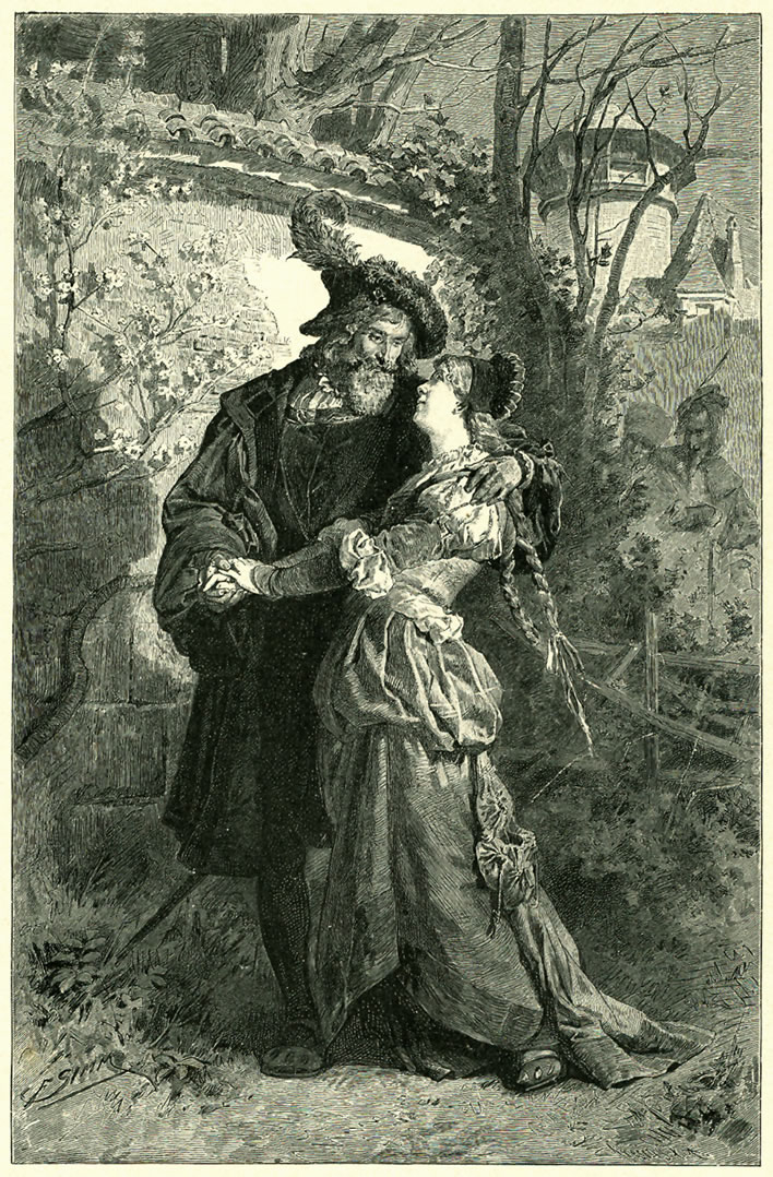 Faust and Gretchen in the pavilion