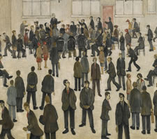 L. S. Lowry, 'Election Time' 1929. Vote, matchsticks!