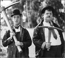 Laurel and Hardy picking the Brexit winner.