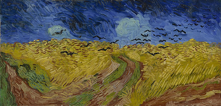 Vincent van Gogh, Wheatfield with Crows, 1890