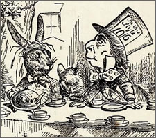 John Tenniel, from 'Alice's Adventures in Wonderland' 1865. Someone here is mad - it's not me, promise.