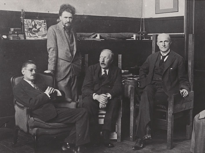 James Joyce, Ezra Pound, Ford Madox Ford and John Quinn in Paris, 1923