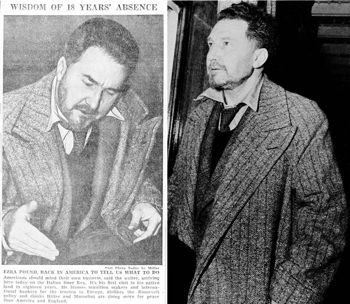 Ezra Pound arrives in the USA in 1939