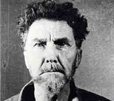 Mugshot from the US Army Disciplinary Training Center in Pisa: 'Ezra Loomis Pound, May 26 1945'