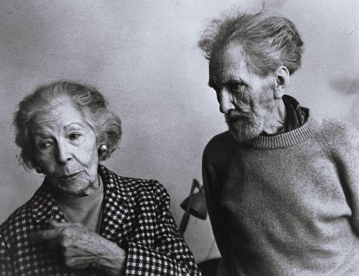 Ezra Pound and Olga Rudge, 1971. Image: Beinecke Library, Yale; ©Olga Rudge Estate