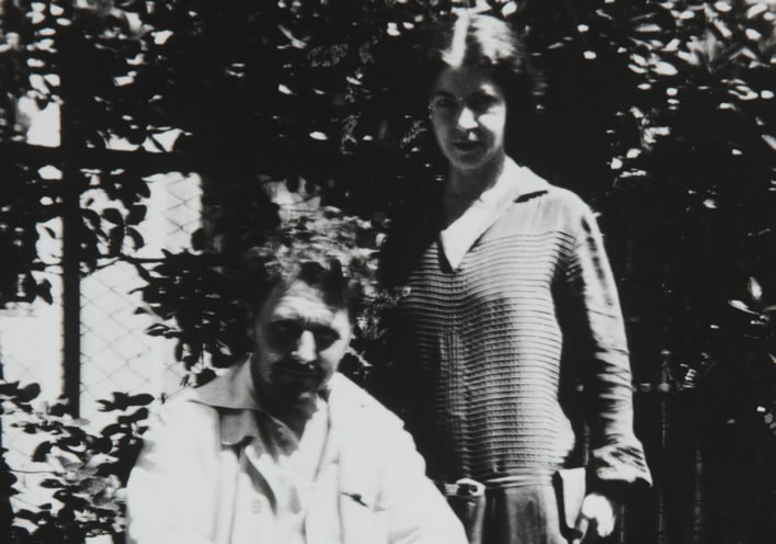 Ezra Pound and Olga Rudge in Venice, 1923. Image: Beinecke Library, Yale; ©Olga Rudge Estate