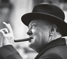 Churchill in Zürich. Image: ©André Melchior, NZZ