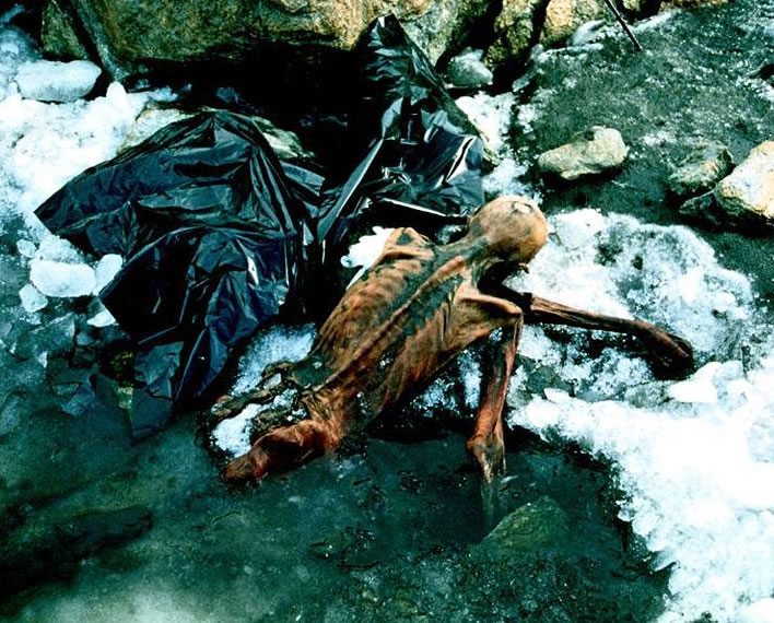 Ötzi, found after 5,000 years.