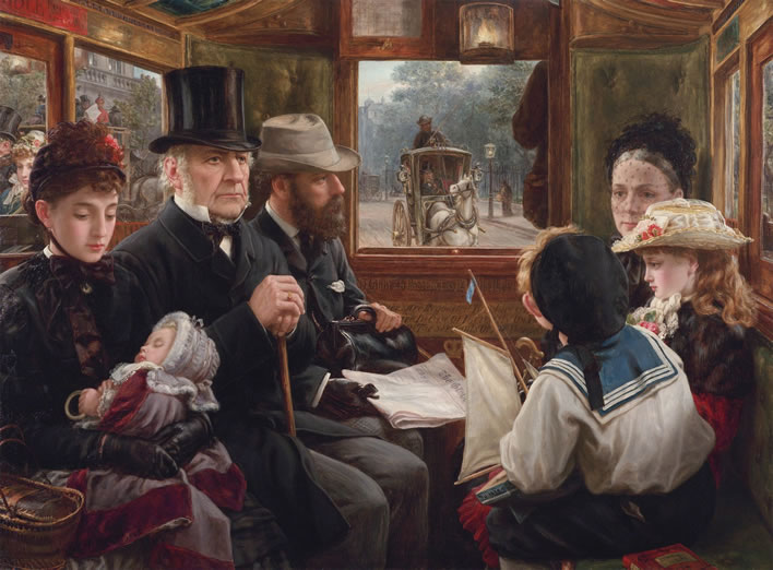Alfred Morgan, An Omnibus Ride to Piccadilly, 1885