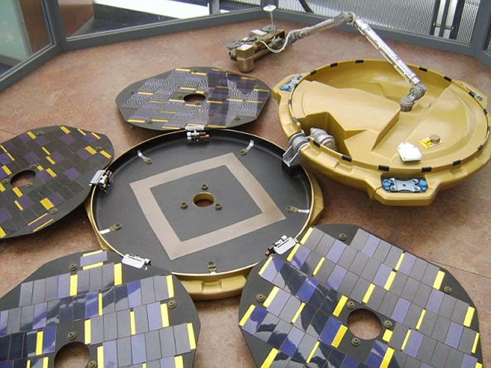 Beagle 2 reconstruction, straight from the shed
