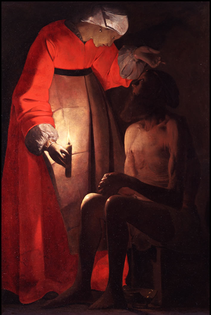 Georges de La Tour, Job Mocked by his Wife, 1630s