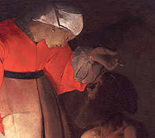 Georges de La Tour, Job Mocked by his Wife, 1630s (detail)