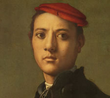 Jacopo Pontormo, A young man in black, c.1530