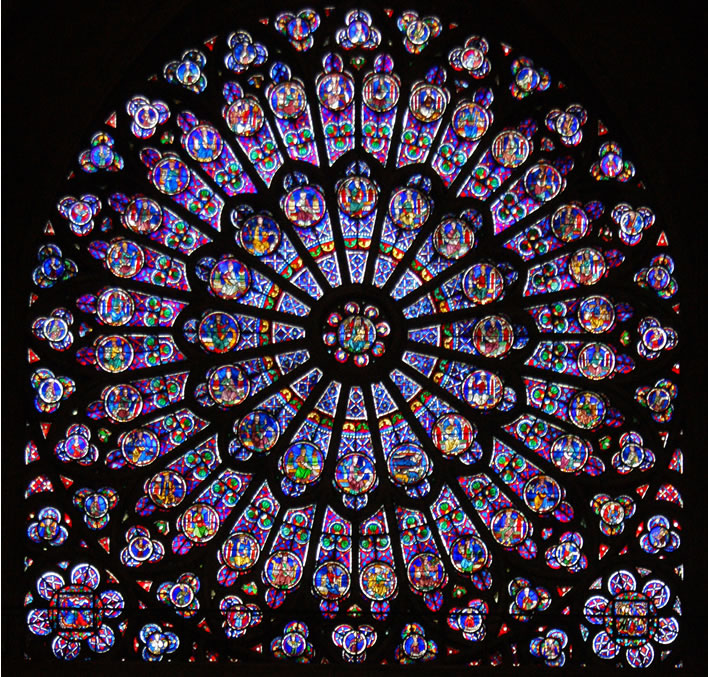 The north rose-window of Notre Dame, Paris