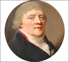 Domenico Bossi (1765-1853), portrait Miniature of Baron Axel von Stiernblad, 1793