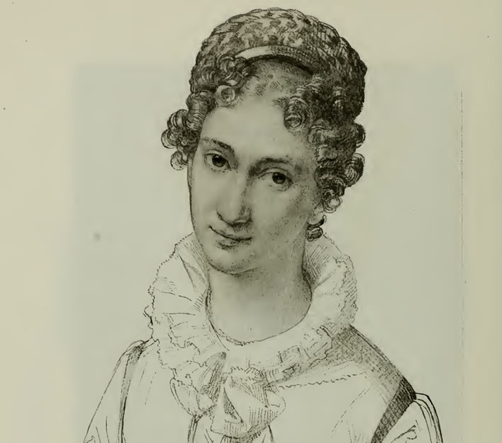 Leopold Kupelwieser, Sophie Schober, pencil drawing, c. 1821