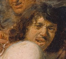 Adriaen Brouwer (1606?-1638), Die Operation am Rücken, c. 1636, (detail).