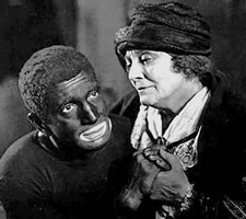 Al Jolson (1886-1950) in the 'Jazz Singer' (1927). Of course you can get away with this stuff if you are a Lithuanian Jew.