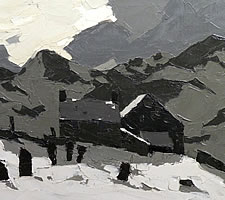 Kyffin Williams, Welsh Chapel Above Deiniolen, 1972 (detail)