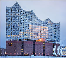 The new 'Elbphilharmonie' in Hamburg.